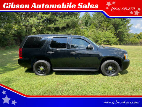 2012 Chevrolet Tahoe for sale at Gibson Automobile Sales in Spartanburg SC