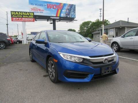 2016 Honda Civic for sale at Hanna's Auto Sales in Indianapolis IN