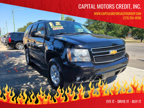 2012 Chevrolet Tahoe for sale at Capital Motors Credit, Inc. in Chicago IL