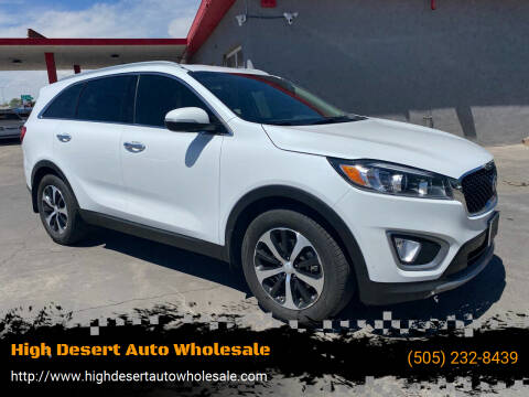 2017 Kia Sorento for sale at High Desert Auto Wholesale in Albuquerque NM