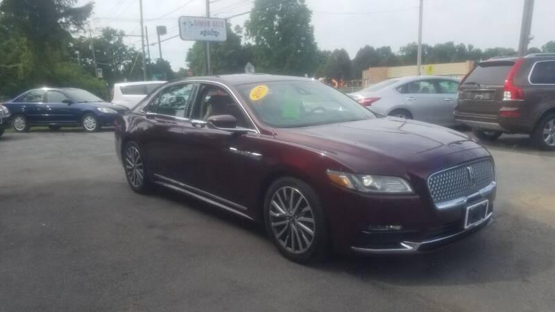 2017 Lincoln Continental for sale at JERRY SIMON AUTO SALES in Cambridge NY