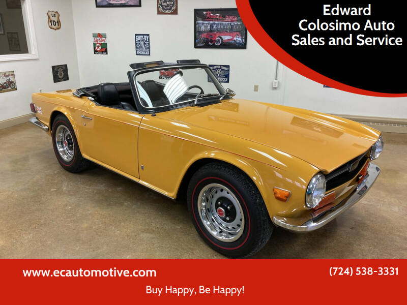 1972 Triumph TR6 for sale at Edward Colosimo Auto Sales and Service in Evans City PA