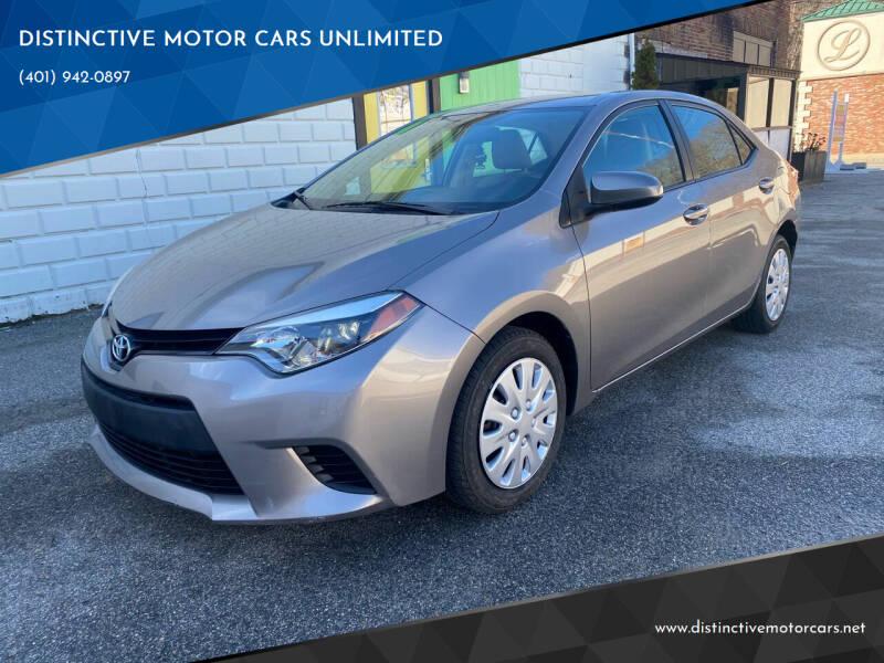 2014 Toyota Corolla for sale at DISTINCTIVE MOTOR CARS UNLIMITED in Johnston RI