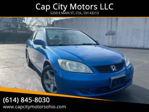 2004 Honda Civic for sale at Cap City Motors LLC in Columbus OH