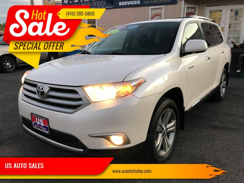 2013 Toyota Highlander for sale at US AUTO SALES in Baltimore MD