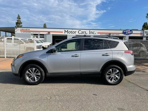 2018 Toyota RAV4 Hybrid for sale at MOTOR CARS INC in Tulare CA