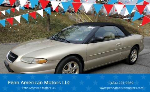 2000 Chrysler Sebring for sale at Penn American Motors LLC in Allentown PA