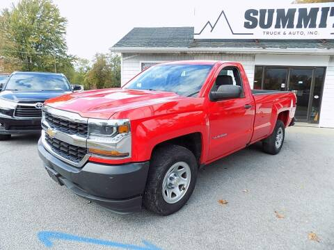 2016 Chevrolet Silverado 1500 for sale at SUMMIT TRUCK & AUTO INC in Akron NY