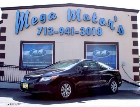 2012 Honda Civic for sale at MEGA MOTORS in South Houston TX