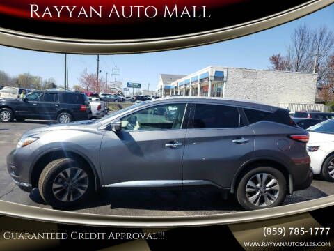 2015 Nissan Murano for sale at Rayyan Auto Mall in Lexington KY