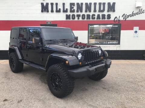 2014 Jeep Wrangler Unlimited for sale at Millennium Motorcars in Yorkville IL