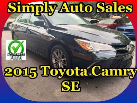 2015 Toyota Camry for sale at Simply Auto Sales in Palm Beach Gardens FL
