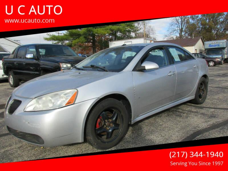 2009 Pontiac G6 for sale at U C AUTO in Urbana IL