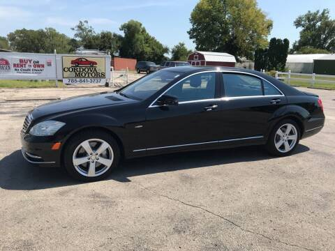 2012 Mercedes-Benz S-Class for sale at Cordova Motors in Lawrence KS