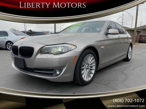 2011 BMW 5 Series for sale at Liberty Motors in Billings MT