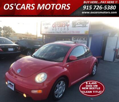 2000 Volkswagen New Beetle for sale at Os'Cars Motors in El Paso TX