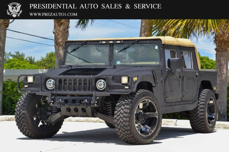 2001 HUMMER H1 for sale at Presidential Auto  Sales & Service in Delray Beach FL