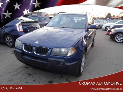 2005 BMW X3 for sale at Cromax Automotive in Ann Arbor MI