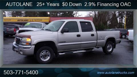 2004 GMC Sierra 2500 for sale at Auto Lane in Portland OR
