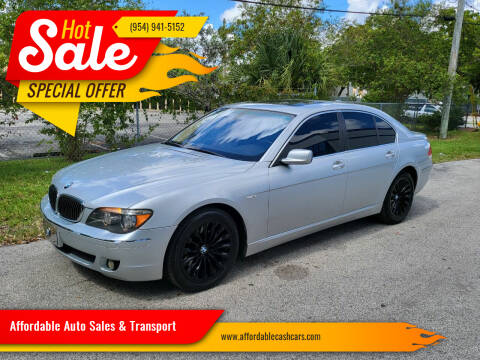 2006 BMW 7 Series for sale at Affordable Auto Sales & Transport in Pompano Beach FL