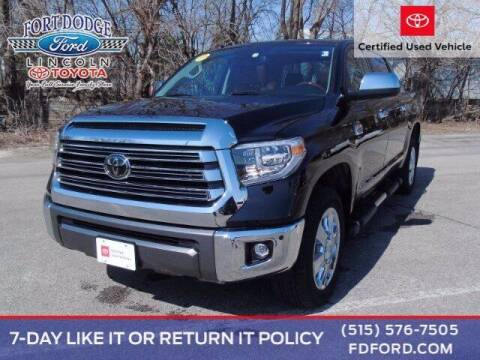 2019 Toyota Tundra for sale at Fort Dodge Ford Lincoln Toyota in Fort Dodge IA