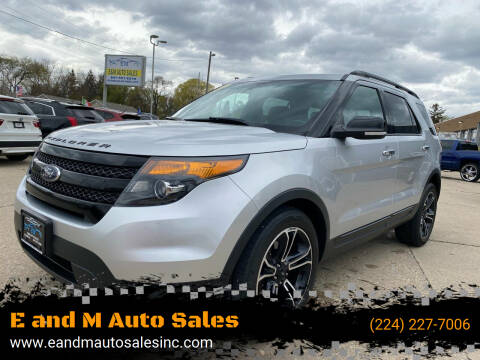 2014 Ford Explorer for sale at E and M Auto Sales in East Dundee IL