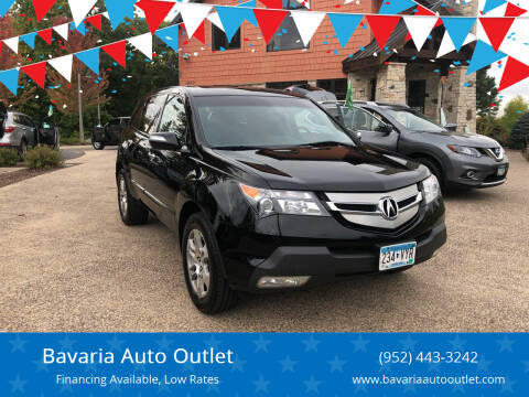 2009 Acura MDX for sale at Bavaria Auto Outlet in Victoria MN