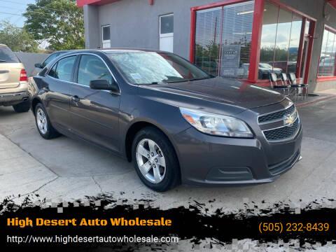 2013 Chevrolet Malibu for sale at High Desert Auto Wholesale in Albuquerque NM