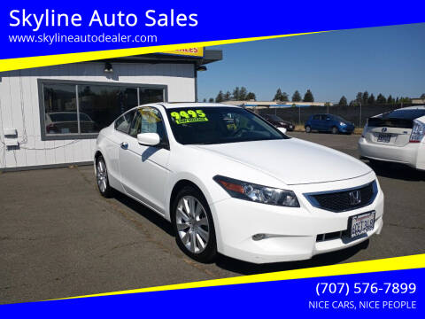 2008 Honda Accord for sale at Skyline Auto Sales in Santa Rosa CA