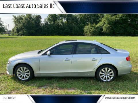 2012 Audi A4 for sale at East Coast Auto Sales llc in Virginia Beach VA