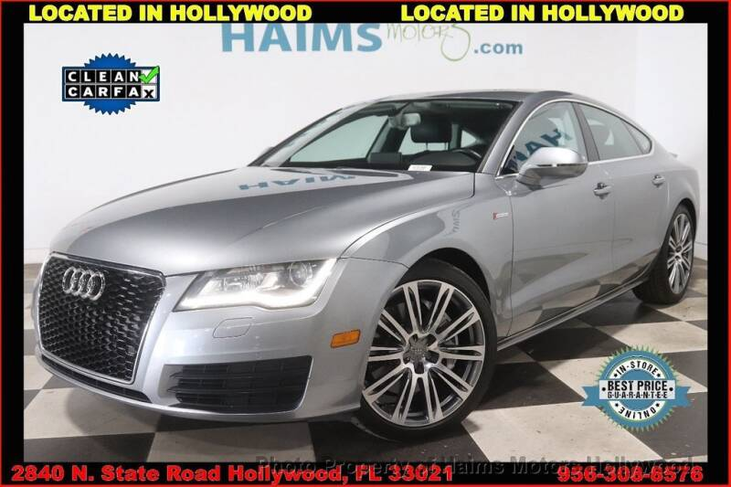 2013 Audi A7 for sale in Hollywood, FL