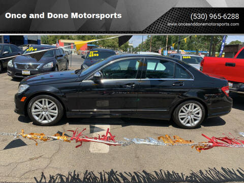 2008 Mercedes-Benz C-Class for sale at Once and Done Motorsports in Chico CA