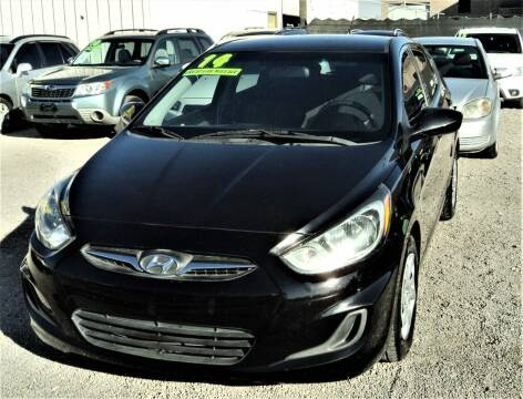 2014 Hyundai Accent for sale at DESERT AUTO TRADER in Las Vegas NV