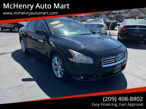 2013 Nissan Maxima for sale at McHenry Auto Mart in Turlock CA
