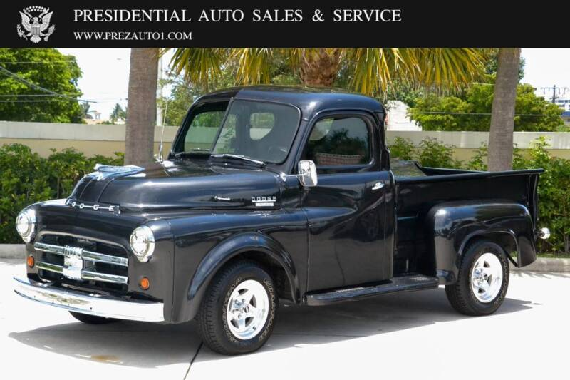 1953 Dodge B-SERIES for sale at Presidential Auto  Sales & Service in Delray Beach FL