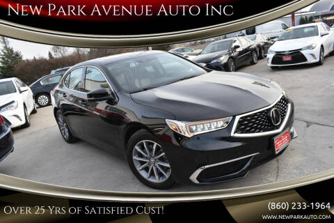2018 Acura TLX for sale at New Park Avenue Auto Inc in Hartford CT
