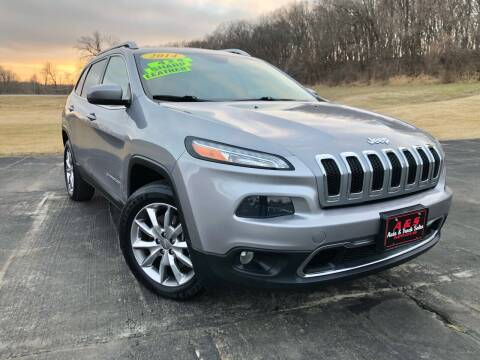 2014 Jeep Cherokee for sale at A & S Auto and Truck Sales in Platte City MO