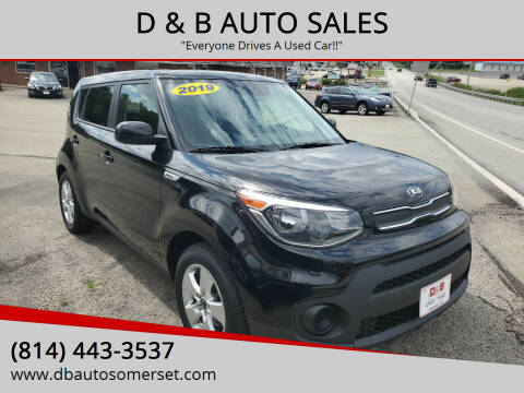 2019 Kia Soul for sale at D & B AUTO SALES in Somerset PA
