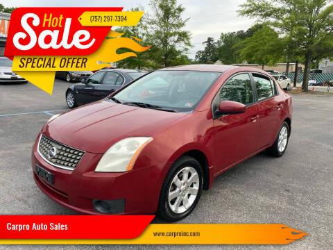 2007 Nissan Sentra for sale at Carpro Auto Sales in Chesapeake VA