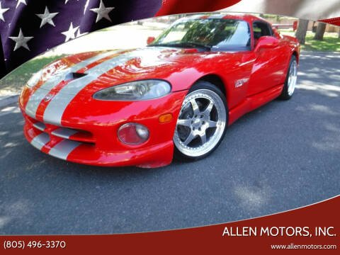 1997 Dodge Viper for sale at Allen Motors, Inc. in Thousand Oaks CA
