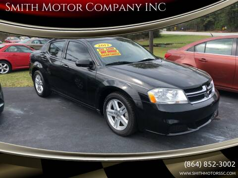 2012 Dodge Avenger for sale at Smith Motor Company INC in Mc Cormick SC