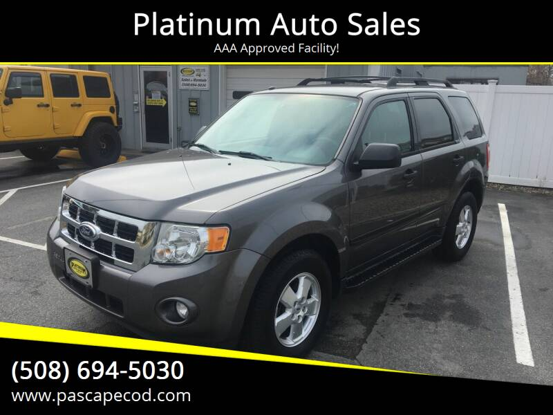 2011 Ford Escape for sale at Platinum Auto Sales in South Yarmouth MA