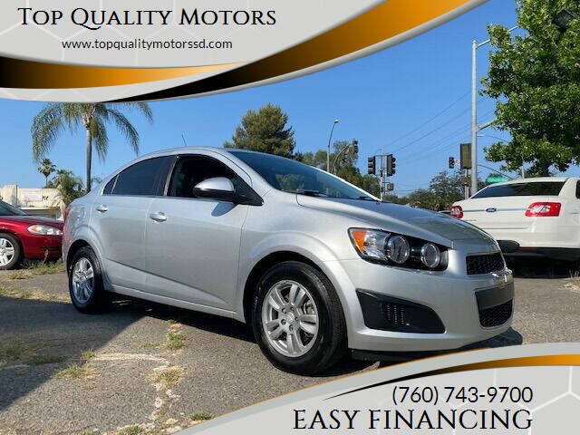 2016 Chevrolet Sonic for sale at Top Quality Motors in Escondido CA