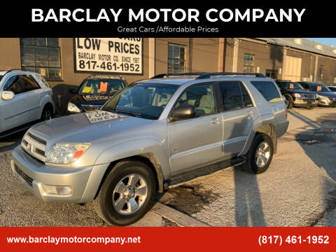 2004 Toyota 4Runner for sale at BARCLAY MOTOR COMPANY in Arlington TX