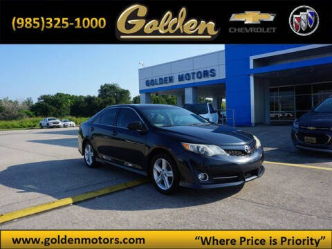 2012 Toyota Camry for sale at GOLDEN MOTORS in Cut Off LA