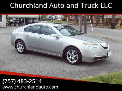 2010 Acura TL for sale at Churchland Auto and Truck LLC in Portsmouth VA