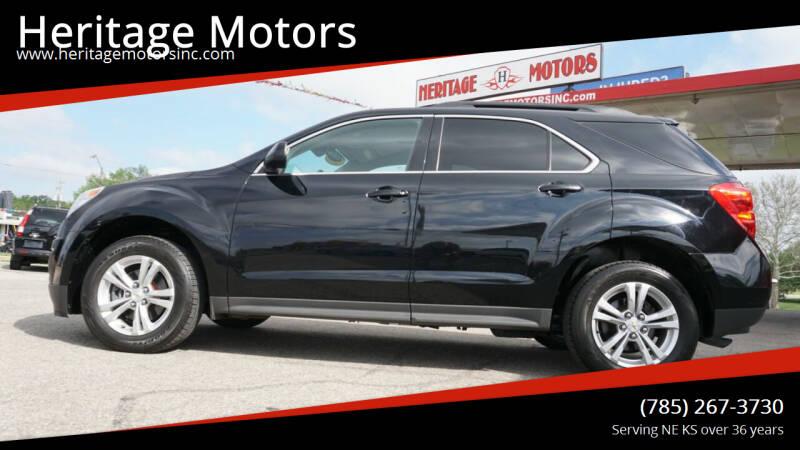 2012 Chevrolet Equinox for sale at Heritage Motors in Topeka KS