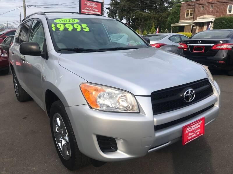 2010 Toyota RAV4 for sale at Alexander Antkowiak Auto Sales in Hatboro PA