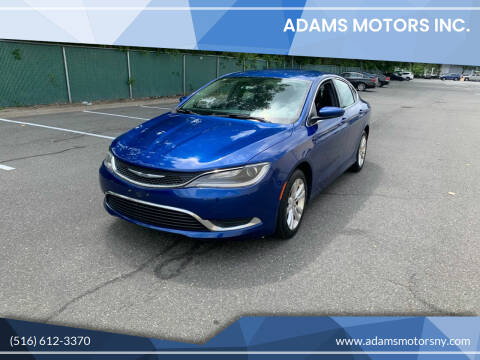 2016 Chrysler 200 for sale at Adams Motors INC. in Inwood NY