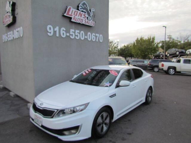 2012 Kia Optima Hybrid for sale at LIONS AUTO SALES in Sacramento CA